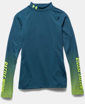 Boys' UA ColdGear® Armour Battle Worn Fitted Mock