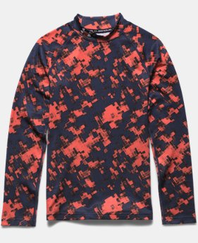 Boys' UA ColdGear® Armour Printed Fitted Mock