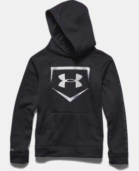 Boys' UA Storm Armour® Fleece Baseball Logo Hoodie