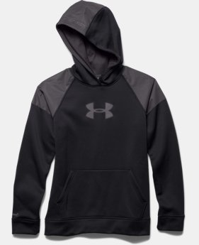 Boys' UA Storm Armour® Fleece Reflective Hoodie