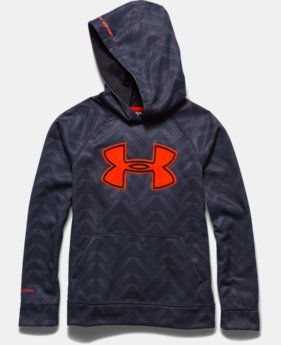 Boys' UA Storm Armour® Fleece Printed Big Logo Hoodie