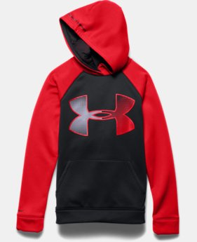 Boys' UA Storm Armour® Fleece Jumbo Logo Hoodie