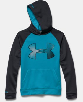 Boys' UA Storm Armour® Fleece Jumbo Big Logo Hoodie