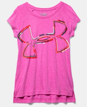 Girls' UA Charged Cotton Tri-Blend Impulse Logo T-Shirt