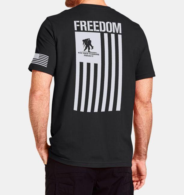 men s ua wwp freedom flag t shirt under armour us