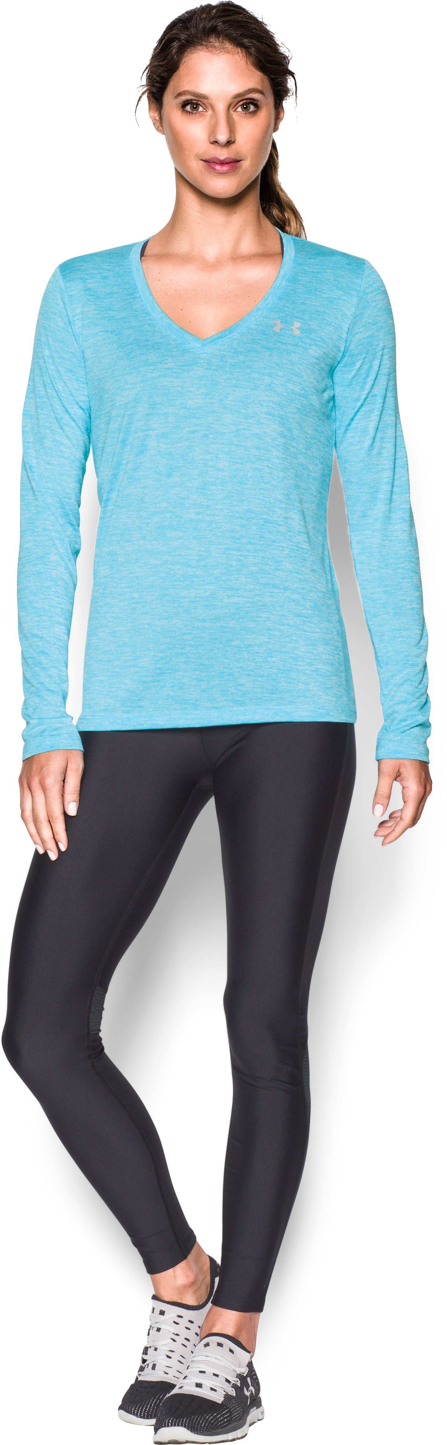 Women's UA Tech™ Twist Long Sleeve, Venetian Blue
