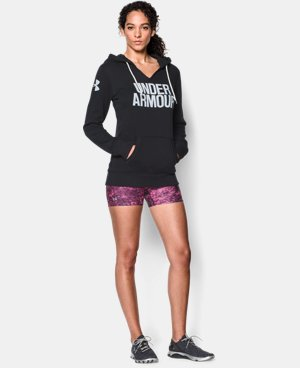 Women's UA Cotton Fleece Wordmark Hoodie LIMITED TIME OFFER + FREE U.S. SHIPPING 1 Color $41.24