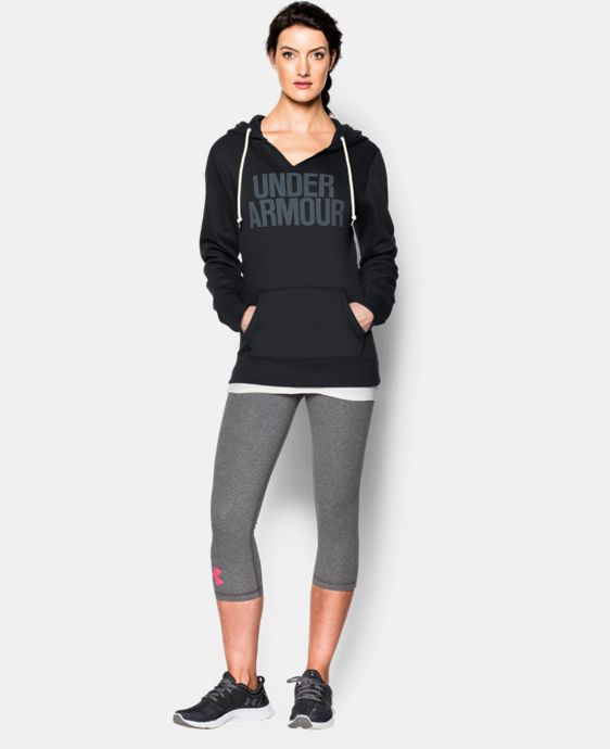 Women's UA Cotton Fleece Wordmark Hoodie LIMITED TIME: FREE U.S. SHIPPING 3 Colors $41.24