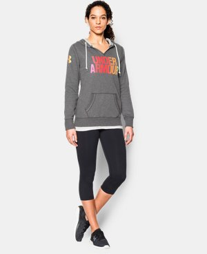 Women's UA Cotton Fleece Wordmark Hoodie LIMITED TIME: FREE U.S. SHIPPING 2 Colors $41.24