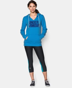 Women's UA Cotton Fleece Wordmark Hoodie  1 Color $41.24