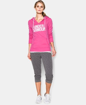 Women's UA Cotton Fleece Wordmark Hoodie LIMITED TIME OFFER + FREE U.S. SHIPPING 2 Colors $41.24
