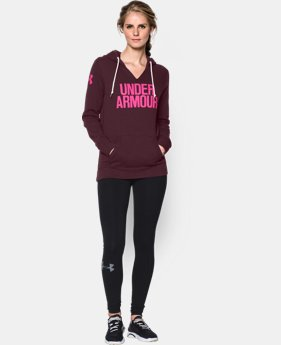 Women's UA Cotton Fleece Wordmark Hoodie  1 Color $41.99