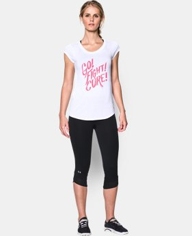Women's UA Power In Pink® Go Fight Cure T-Shirt  2 Colors $20.24