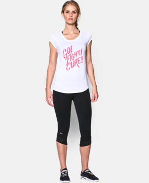New Arrival  Women's UA Power In Pink® Go Fight Cure T-Shirt LIMITED TIME: FREE SHIPPING 1 Color $26.99