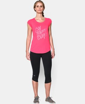 Women's UA Power In Pink® Go Fight Cure T-Shirt  1 Color $13.49