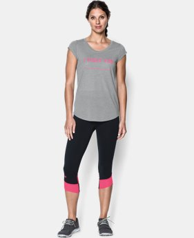 Women's UA Power In Pink® I Fight For T-Shirt LIMITED TIME: FREE SHIPPING 1 Color $20.24