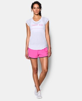 New Arrival  Women's UA Power In Pink® I Fight For T-Shirt LIMITED TIME: FREE SHIPPING 1 Color $26.99