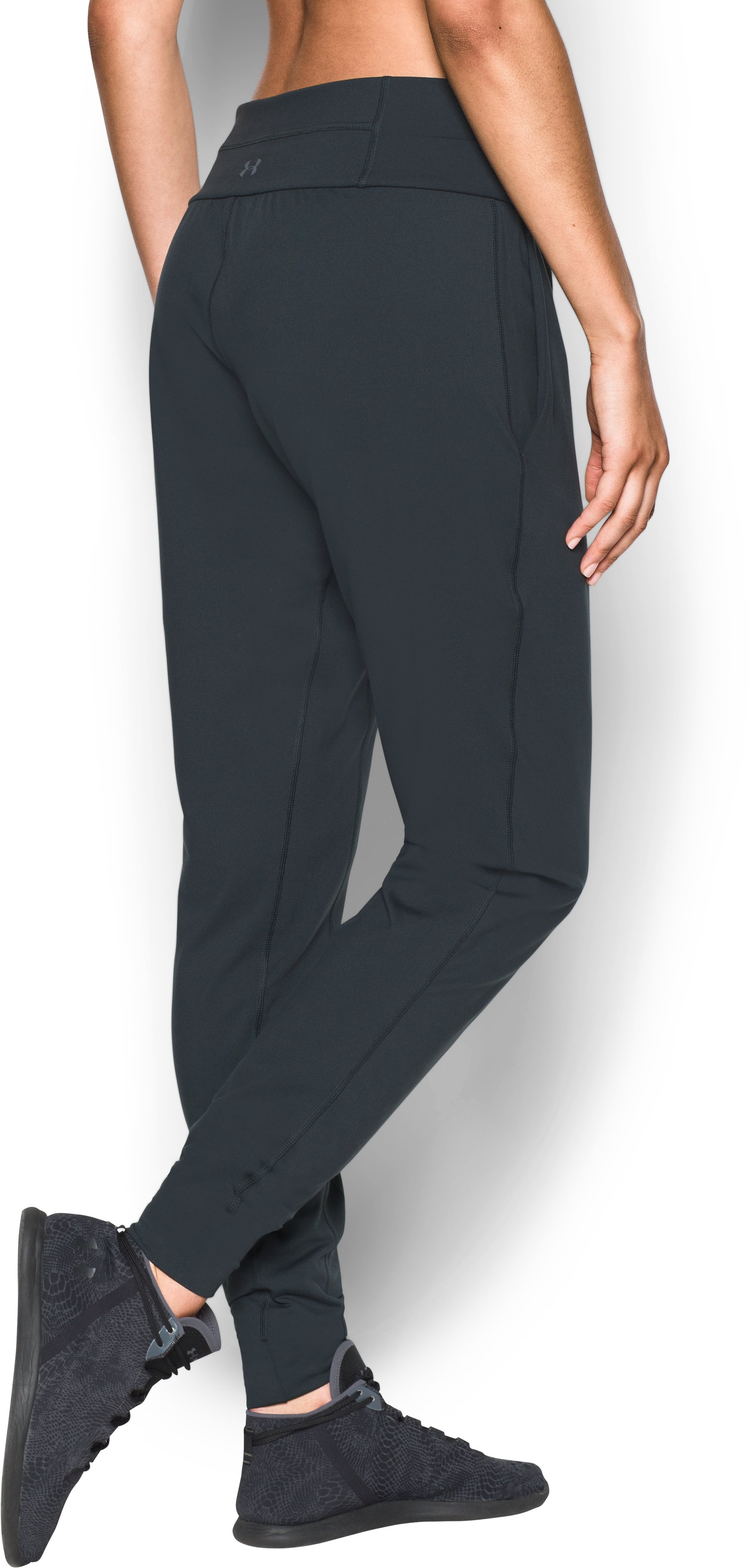Women's UA Downtown Knit Pants, ANTHRACITE, undefined