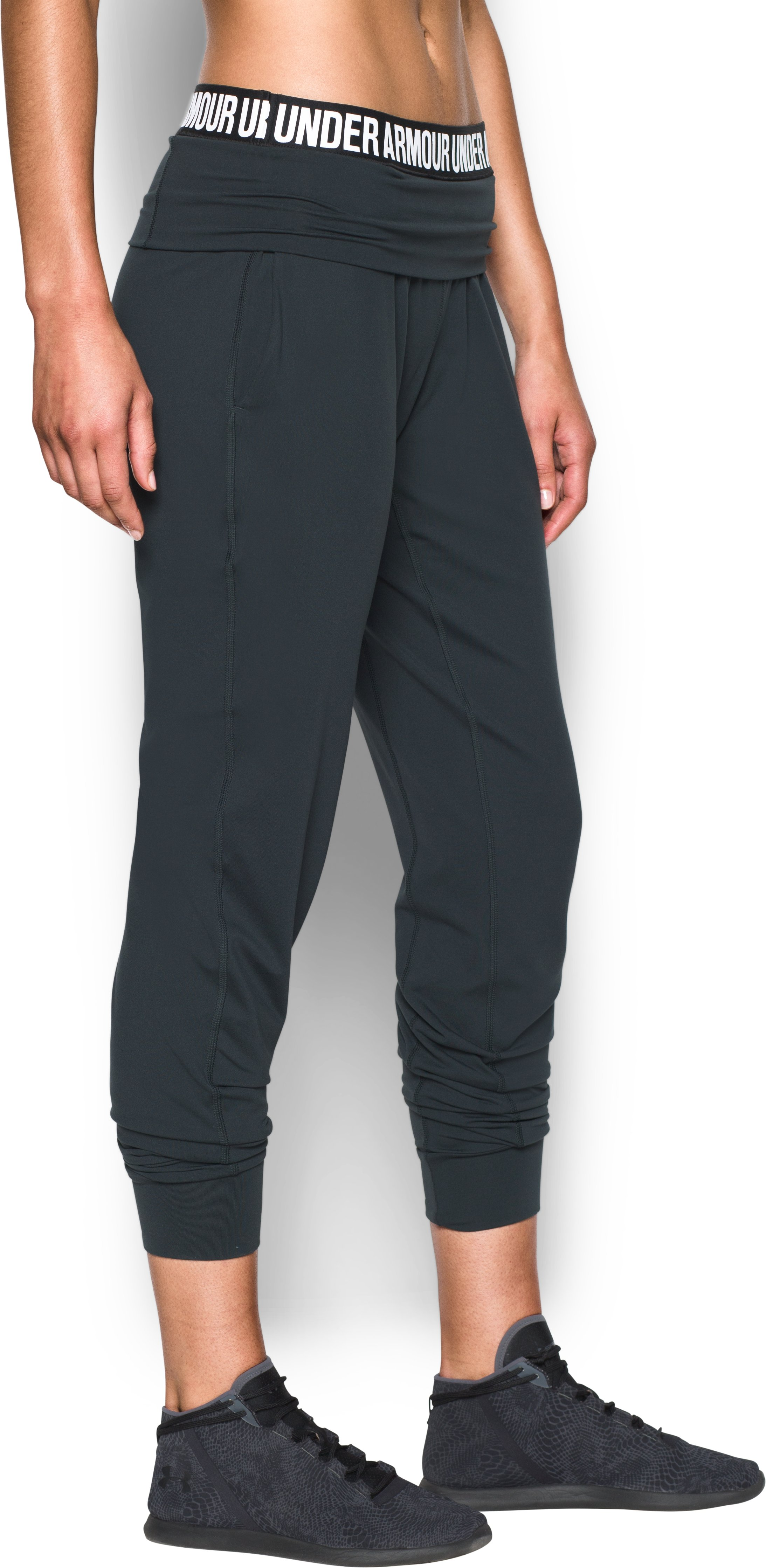 Women's UA Downtown Knit Pants, ANTHRACITE