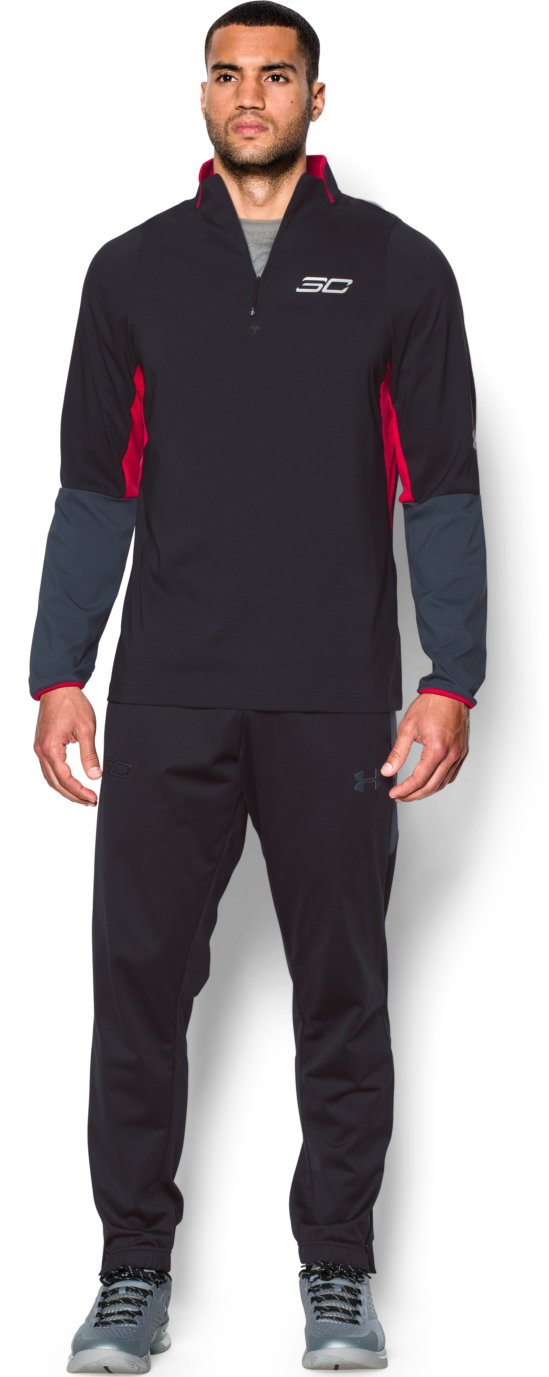 Men's SC30 Stryker Long Sleeve Shooting Shirt, Black , Front