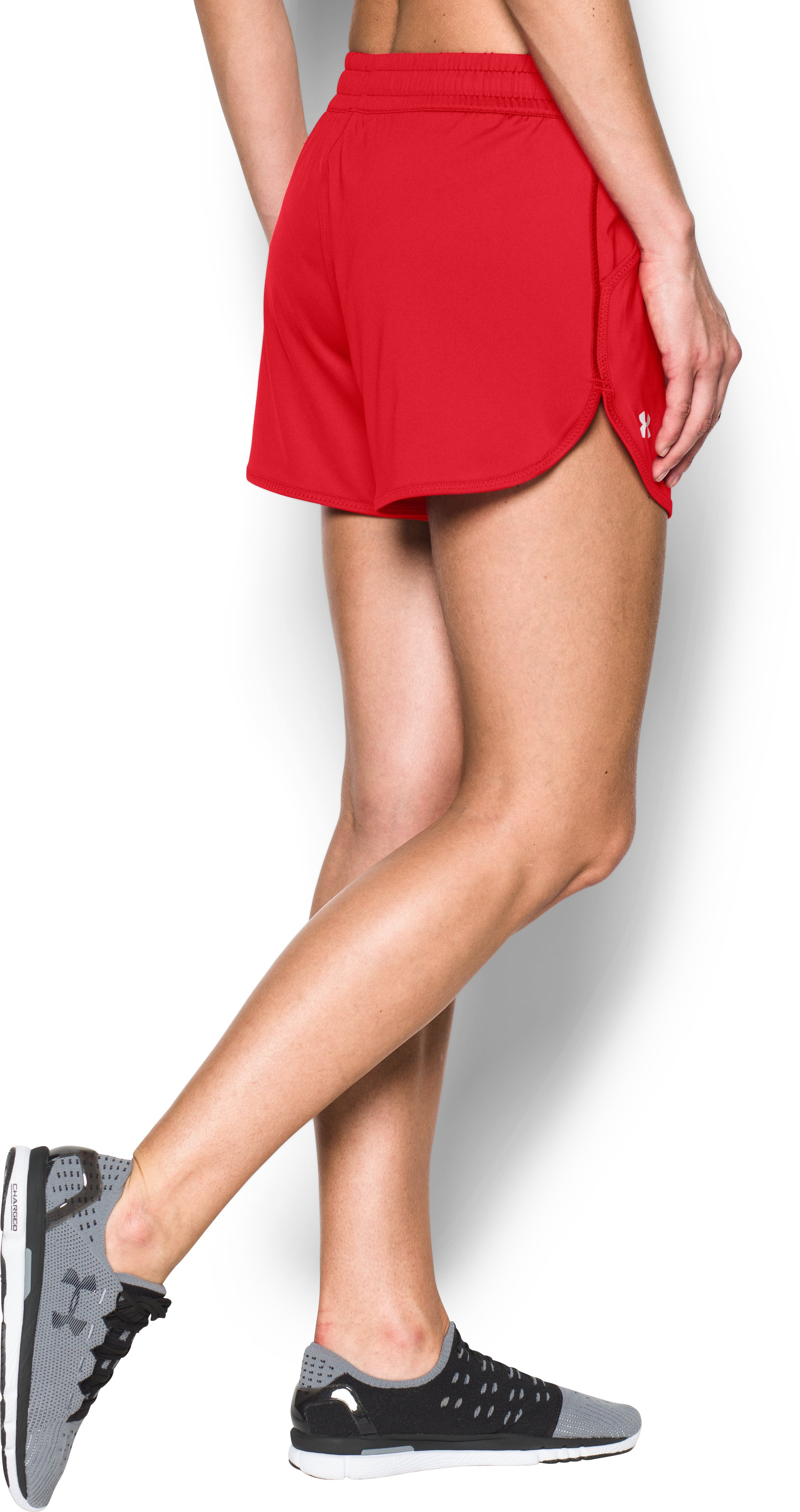 Women's UA Assist Shorts, Red, undefined