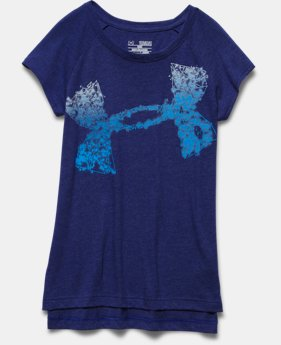 Girls' UA Charged Cotton® Tri-Blend Impulse Logo T-Shirt
