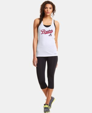 New to Outlet Women's Atlanta Braves UA Achieve Tank  1 Color $26.99
