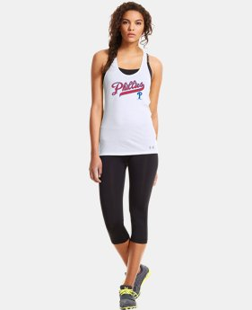 New to Outlet Women's Philadelphia Phillies UA Achieve Tank LIMITED TIME: FREE U.S. SHIPPING 1 Color $20.24