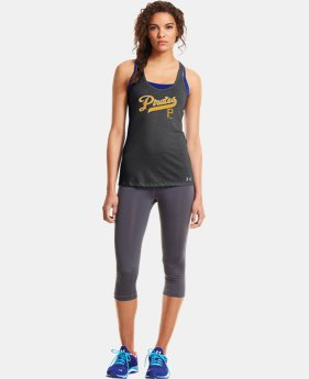 New to Outlet Women's Pittsburgh Pirates UA Achieve Tank LIMITED TIME: FREE U.S. SHIPPING 1 Color $20.24