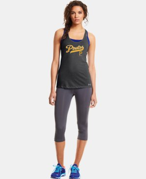 New to Outlet Women's Pittsburgh Pirates UA Achieve Tank  1 Color $26.99