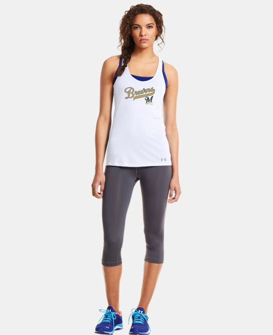 New to Outlet Women's Milwaukee Brewers UA Achieve Tank LIMITED TIME: FREE U.S. SHIPPING 1 Color $20.24