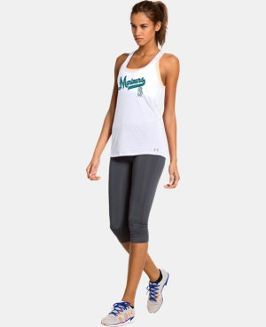 New to Outlet Women's Seattle Mariners UA Achieve Tank LIMITED TIME: FREE U.S. SHIPPING 1 Color $20.24