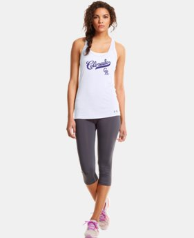 New to Outlet Women's Colorado Rockies UA Achieve Tank LIMITED TIME: FREE U.S. SHIPPING 1 Color $20.24