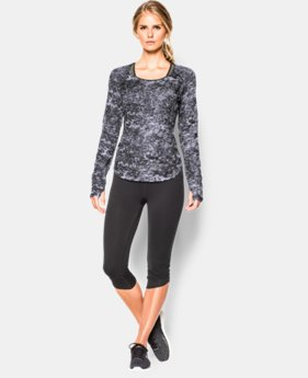 Women's UA Fly-By Allover Printed Mesh Long Sleeve  1 Color $26.99 to $33.99