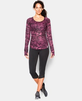 Women's UA Fly-By Allover Printed Mesh Long Sleeve