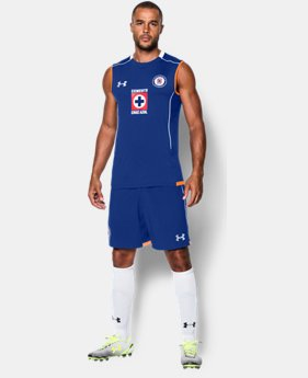 Men's Cruz Azul 15/16 Training Sleeveless Shirt   $33.99