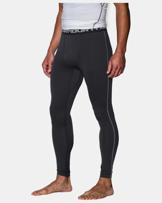 Men's UA ColdGear® Armour Compression Leggings, Black, pdpMainDesktop image number 0