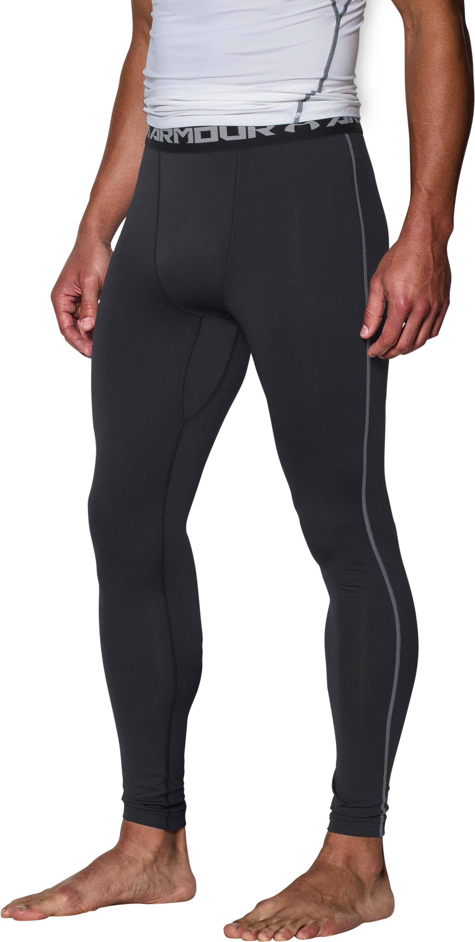 Men's UA ColdGear® Armour Compression Leggings, Black