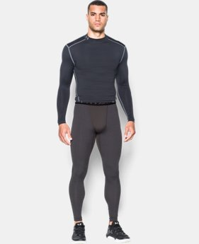 New Arrival  Men's UA ColdGear® Armour Compression Leggings  1 Color $44.99 to $59.99