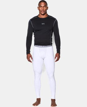 New Arrival  Men's UA ColdGear® Armour Compression Leggings LIMITED TIME: FREE SHIPPING 1 Color $33.74 to $59.99