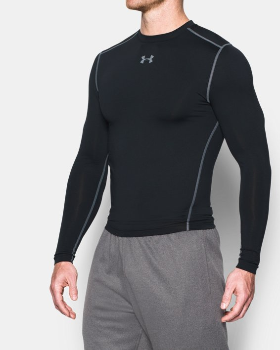 Men's UA ColdGear® Armour Compression Crew, Black, pdpMainDesktop image number 1