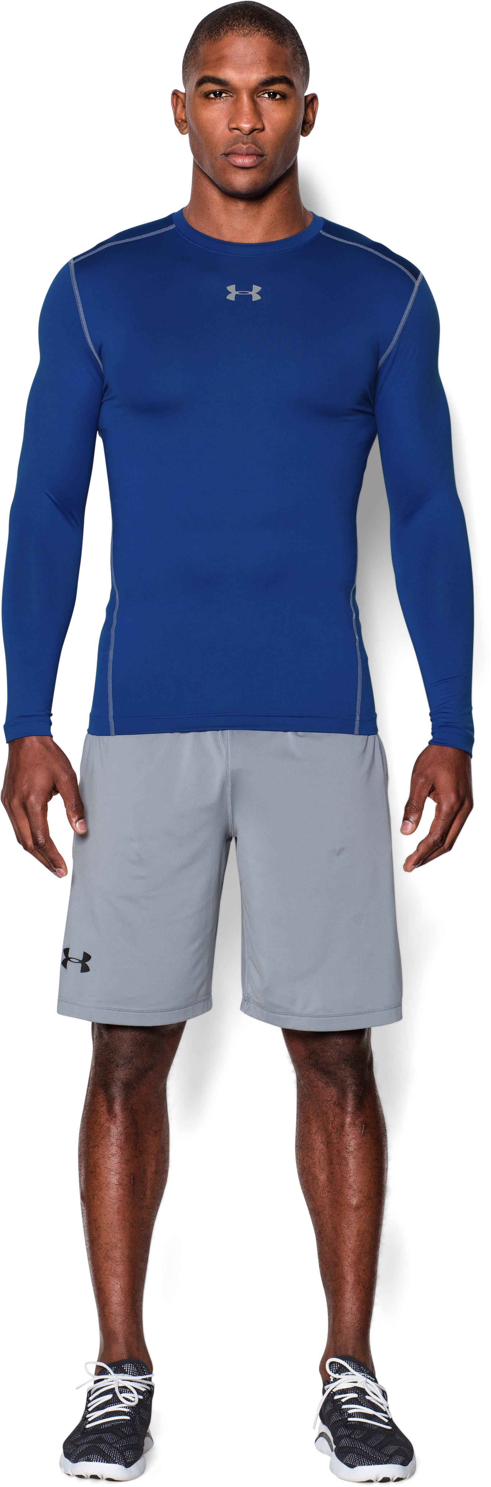 Men's UA ColdGear® Armour Compression Crew, Royal