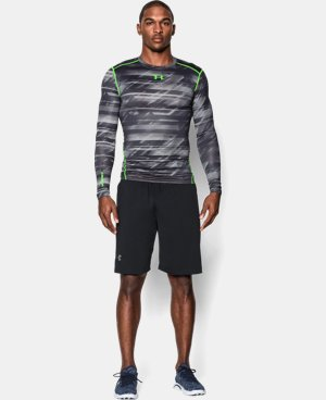 Men's UA ColdGear® Armour Printed Compression Crew LIMITED TIME OFFER + FREE U.S. SHIPPING  $44.99