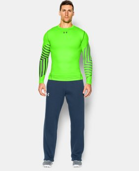 Men's UA ColdGear® Armour Graphic Compression Crew  3 Colors $35.99 to $44.99