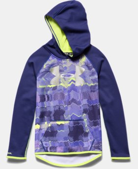 Girls' UA Armour® Fleece Printed Big Logo Hoodie