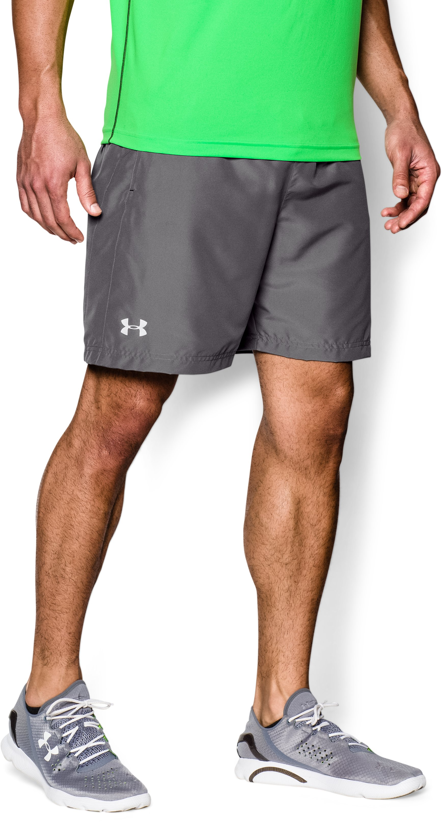 "Men's UA Launch Run 7"" Shorts, Graphite, zoomed image"