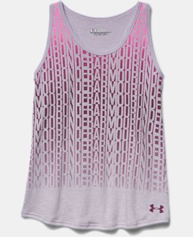 Girls' UA Stacked Charged Cotton® Tri-Blend Tank
