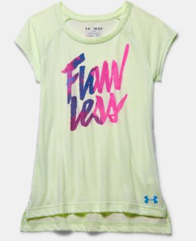 Girls' UA Flawless Charged Cotton Tri-Blend Raglan