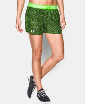 Women's UA Play Up Printed Shorts LIMITED TIME: FREE SHIPPING 3 Colors $15.74 to $20.24