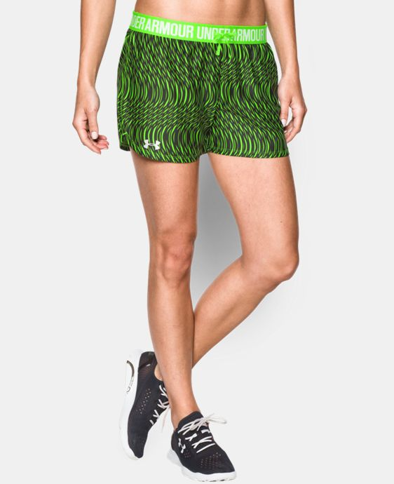 Women's UA Play Up Printed Shorts  1 Color $20.99 to $26.99